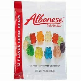 Albanese 12 Flavor Gummie Bears 7.5 oz Bag