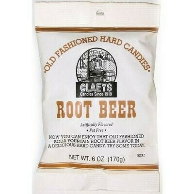 Claeys Root Beer Candy 6oz Bag
