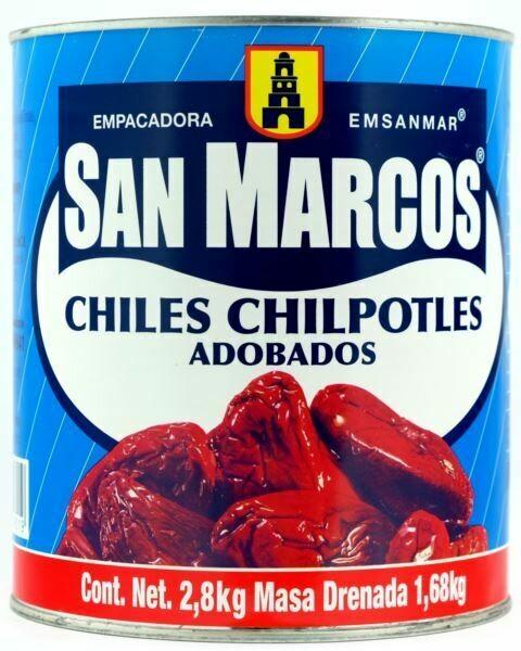 Chipotles Adobados San Marcos 2800 grms
