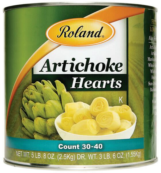 Corazón de alcachofa entero Roland 5.51lb
