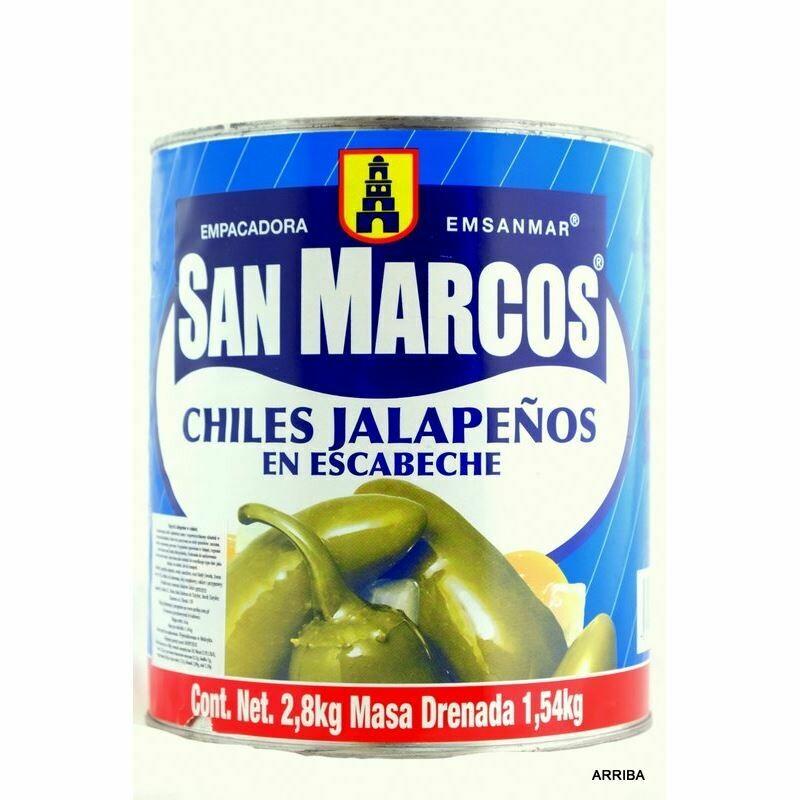 Jalapeño en escabeche San Marcos 2800 gr