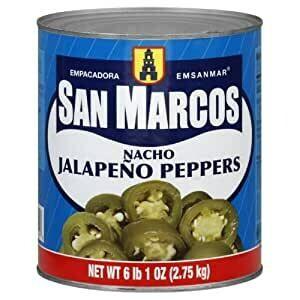 Rodajas de jalapeo nachos San Marcos 2800 gr
