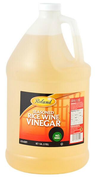 Vinagre de Arroz sazonado Roland 1 galón