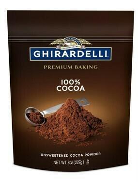 Cocoa Natural sin endulzar Ghirardelli 8 oz