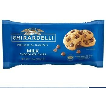 Chispas de Chocolate de Leche para cocinar Ghirardelli 11.5 oz/ 6 unidades