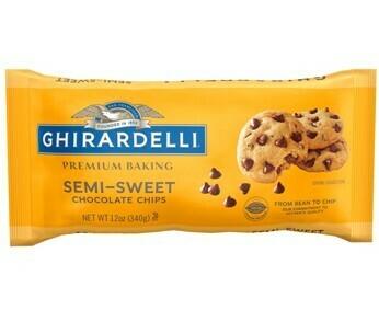 Chispas Chocolate Semi-dulce para cocinar Ghirardelli 12 oz/ 6 unidades