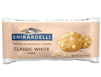 1/2 Caja Chispas de Chocolate Blanco Ghriardelli 11 oz/ 6 unidades