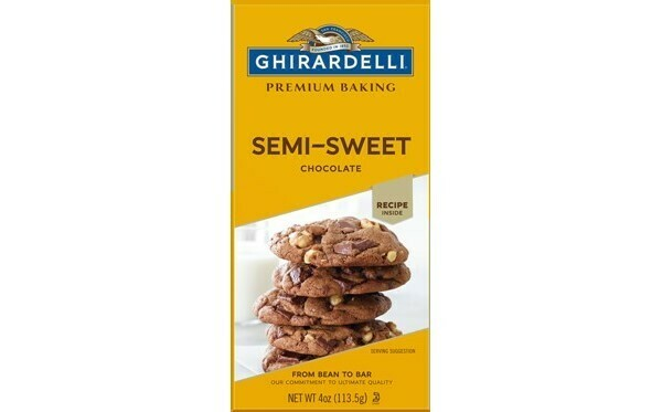 Chocolate Semi Sweet para cocinar Ghirardelli 4 oz / 6 unidades