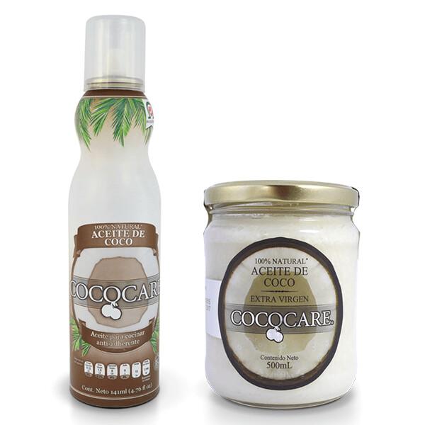 1/4 Caja Aceite de Coco Coco Care Tarro Plastico 1 litro / 6 unidades