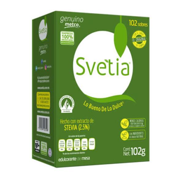 Stevia endulzante sin calorias Svetia  2000 sobres