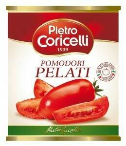 Tomates Enteros Pelados 2500 grms Pietro Coricelli / Caja 6 unidades