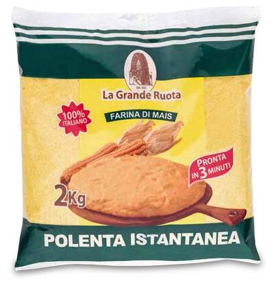 "Polenta Instantánea ""La Grande Routa"" 2 kilos Caja / 5 unidades"