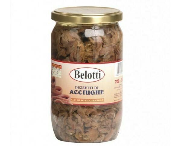 Anchoas en aceite de girasol Belotti 700 grms