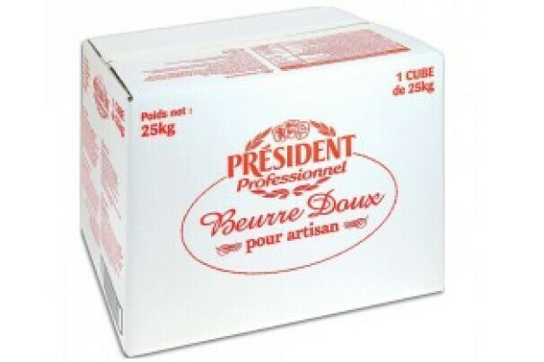 Caja de Mantequilla President 25 kg