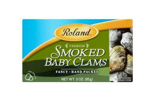 Roland Almejas ahumadas baby 3.66 oz / 6 unidades