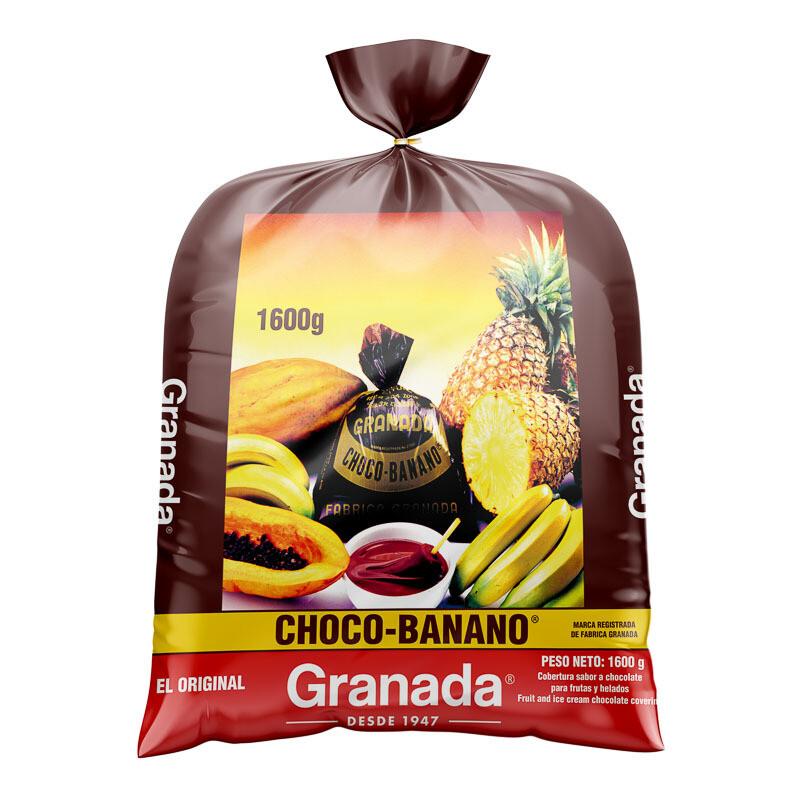 """Granada Chocobanano """"El Original"""" Bolsa de 1,600 grm/ fardo 5 unidades"""