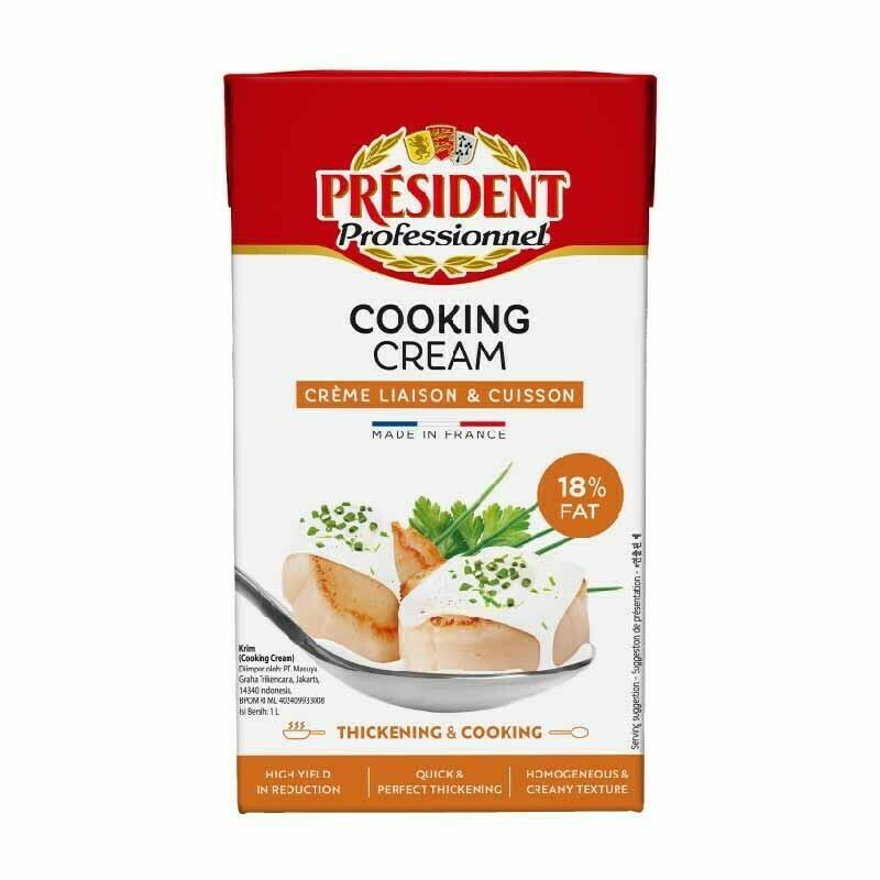Crema para cocinar President 1 lt /  6 unidades