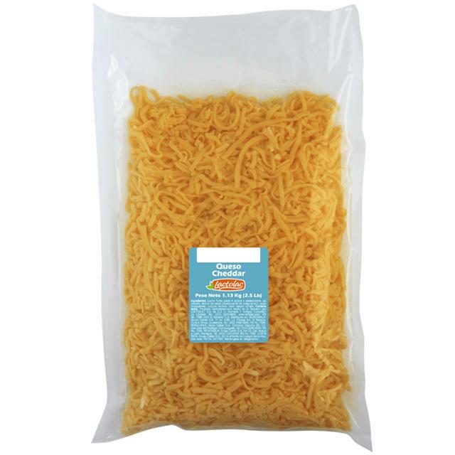 Queso Cheddar rallado 2.5 lbs Lactolac