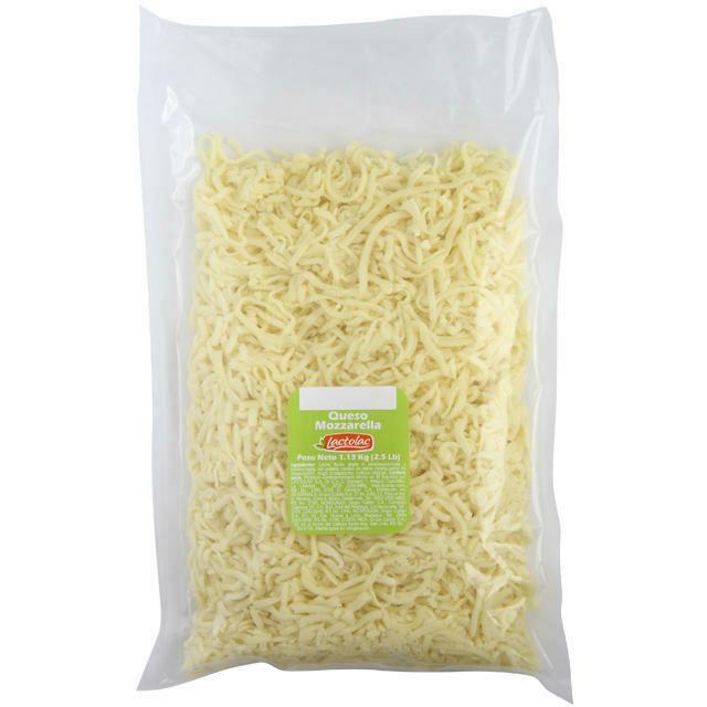 Queso Mozzarella Rallado Bolsa 2.5 lbs