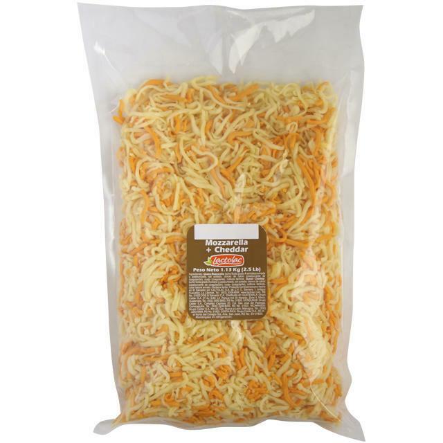 Queso Mozzarella y Cheddar Rallado 2.5 lbs Lactolac