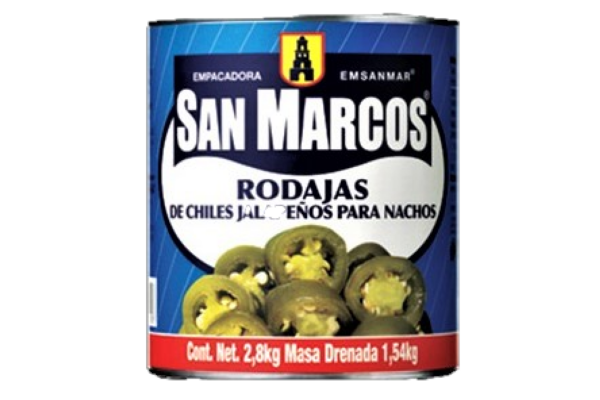 Rodajas de Jalapeños verdes San Marcos galon 2800 gr