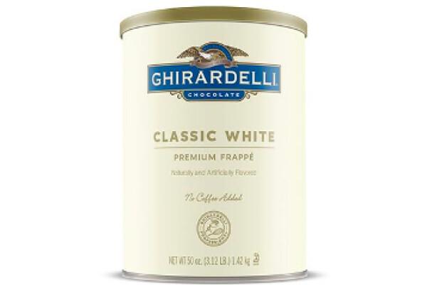 Base para Frappé Premium Chocolate Blanco Clásico Ghirardelli  3.12 lbs /50 oz /1.48 lts