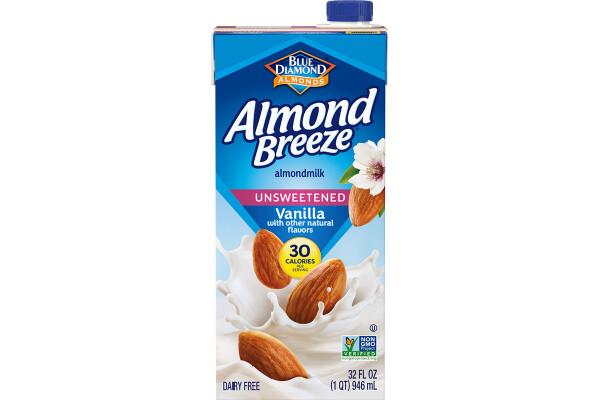Leche de Almendra Almond Breeze Vainilla sin azucar 1lt / 6 unidades