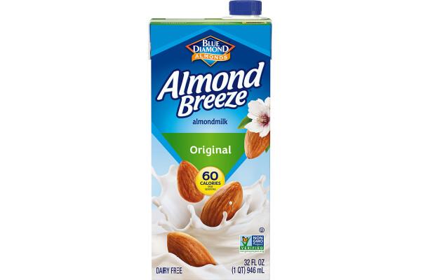 Leche de Almendra Almond Breeze Original 1lt / 6 unidades