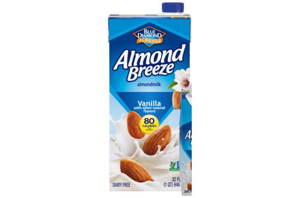 Leche de Almendra Almond Breeze Vainilla 1lt / 6 unidades