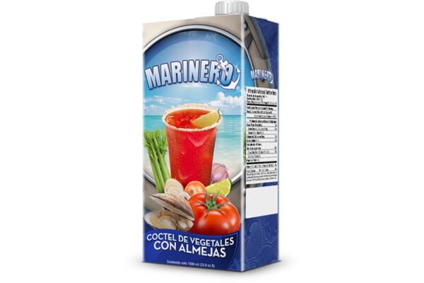 Jugo de Vegetales con Almejas Marinero 1 lt / caja 12 unidades