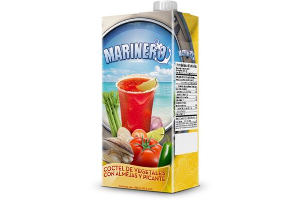 Jugo de Vegetales con Almejas Picante 1 litro/ caja 12 unidades
