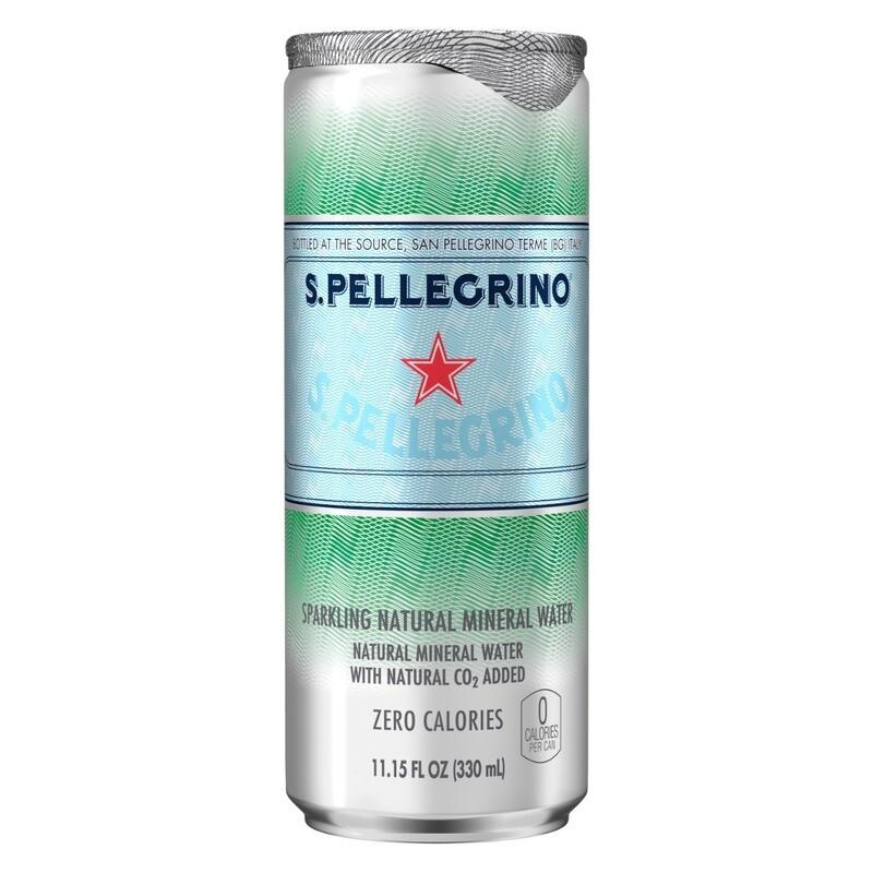 San Pellegrino Mineral Natural con gas lata 330 ml