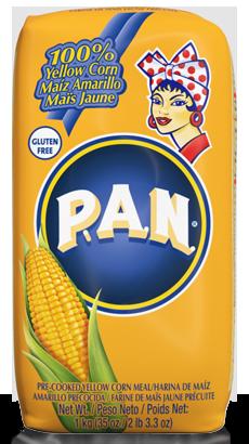Harina PAN Maíz Amarillo para arepas 1 kilo / 5 unidades