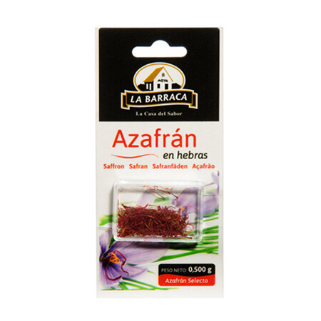 Azafrán en Hebras 0.5 grm/ 4 unidades