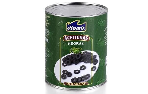 Aceituna negra laminada Diamir 3kg