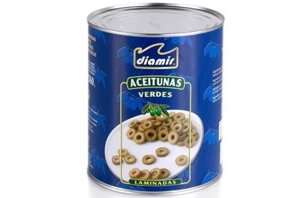 Aceituna Verde laminada Diamir 3 kg