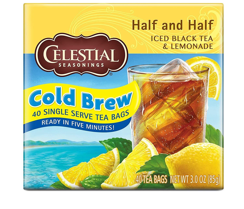 Celestial Seasonings Cool Brew caja Té Negro y Limón 40 sachets de 42 grm