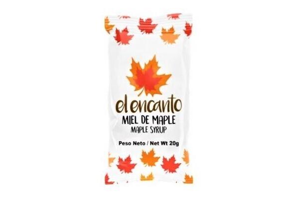 Jarabe de Maple El Encanto porcionado 20 grms / 250 unidades
