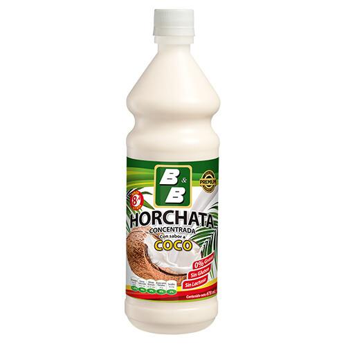 Concentrado Natural de Horchata de Coco  678 ml / Caja 12 unidades