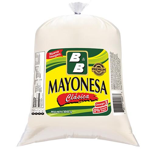 Mayonesa Clasica B&B 1 galón 3000 grm/ Caja 4 unidades