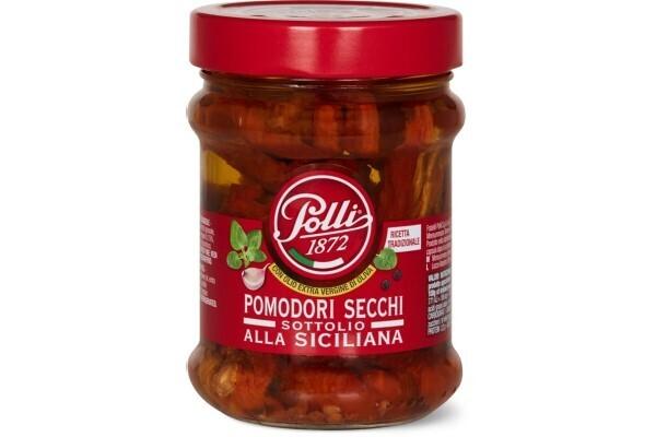 Tomates deshidratados en Aceite de Oliva,  Polli  285 grms / 6 unidades