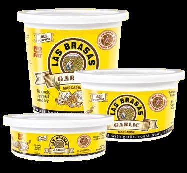 Margarina con Ajo Las Brasas 1/2 litro 453 grm/ 6 unidades