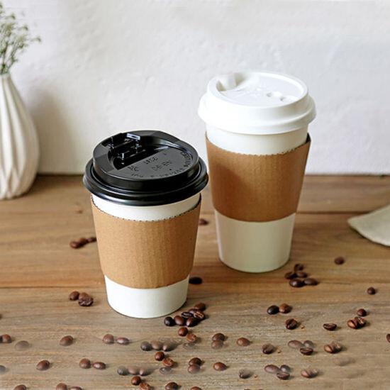 Manga de cartón para vaso de cafe