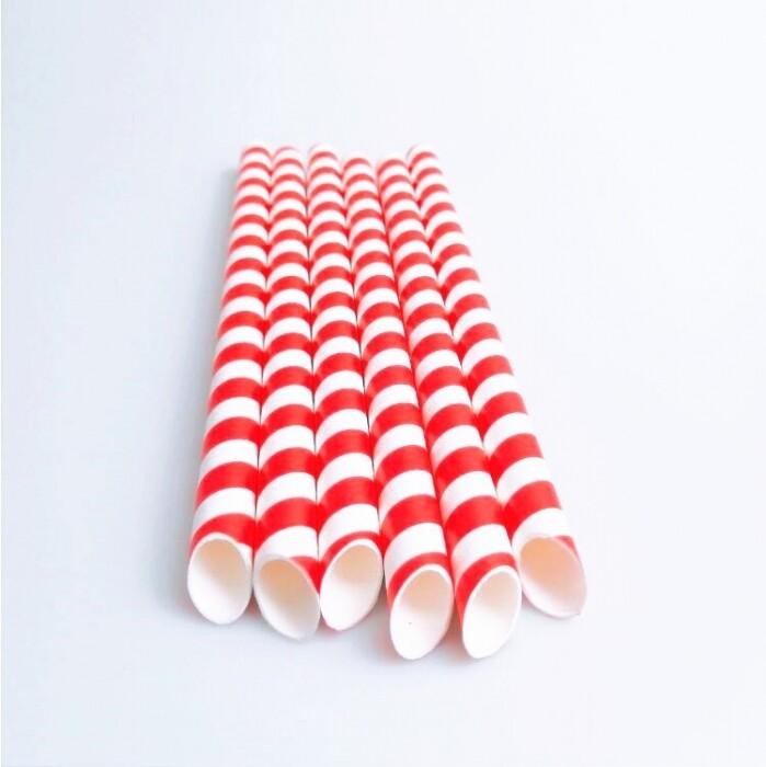 Pajillas gruesas de papel con forro 1,000 unidades