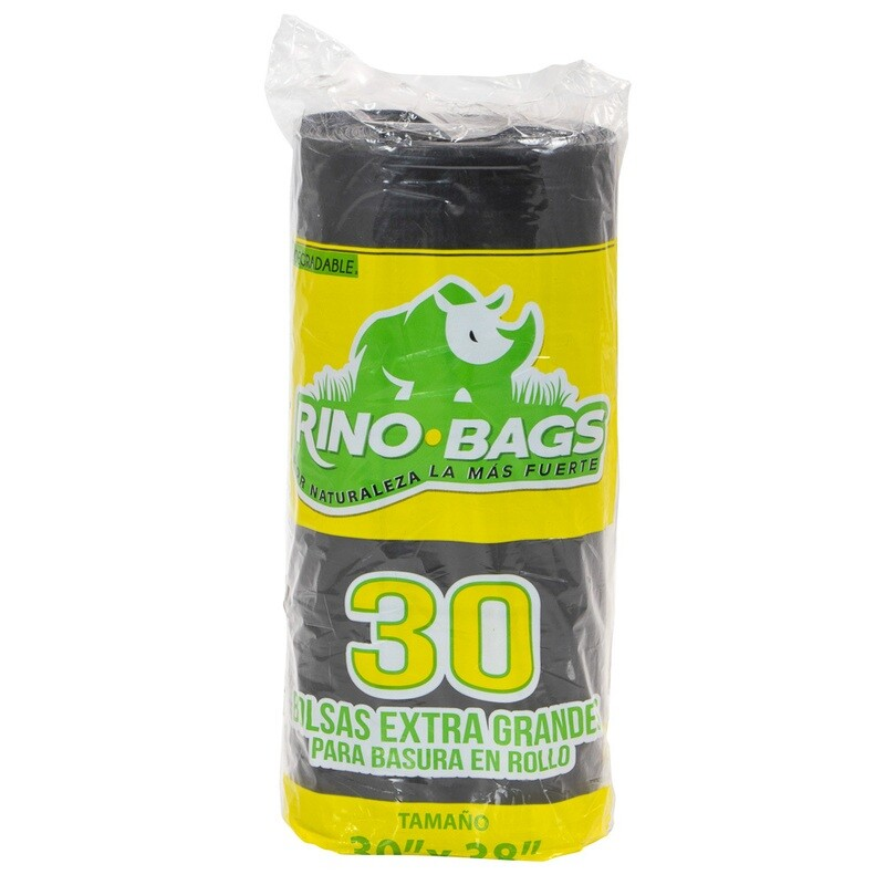 "Bolsa de basura biodegradable grande 30"" x 38"""