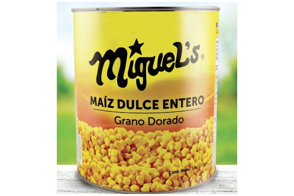 Maiz Dulce Entero Miguel's galon 6 unidades