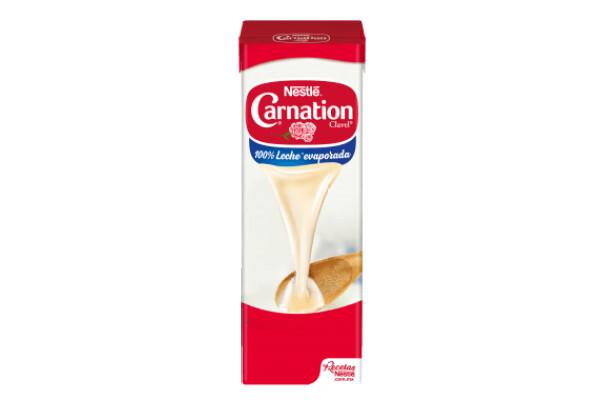 Leche evaporada Carnation Clavel 1lt/ 12