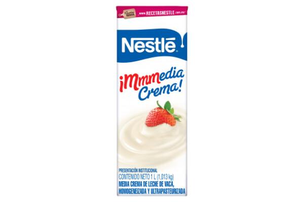 Media Crema Nestlé 1 lt / 12