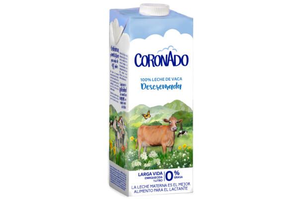 Leche Coronado Descremada  UHT / Caja 12 litros