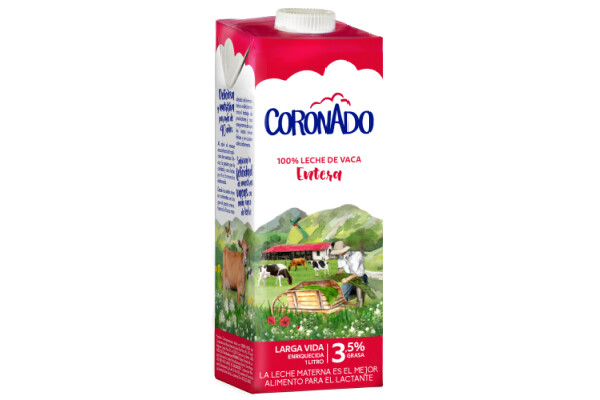 Leche Coronado Entera UHT / Caja 12 litros